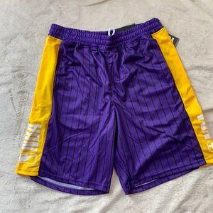 NBA Basketball Shorts Purple & Yellow XL